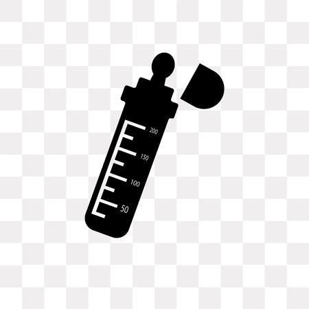 Baby bottle vector icon isolated on transparent background, Baby bottle logo concept Illustration