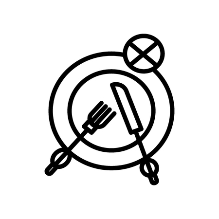 Fasting icon vector isolated on white background, Fasting transparent sign