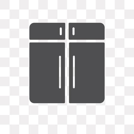 Icona di vettore di armadietto isolato su sfondo trasparente, concetto di marchio di armadio