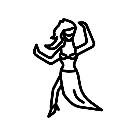 Belly Dance icon vector isolated on white background, Belly Dance transparent sign Illustration