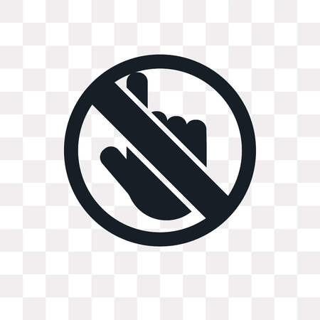 No Push vector icon isolated on transparent background, No Push logo concept Vettoriali
