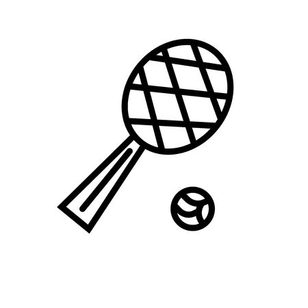 Tennis Game icon vector isolated on white background, Tennis Game transparent sign , linear symbol and stroke design elements in outline style