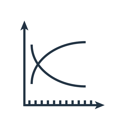 Line graph icon vector isolated on white background, Line graph transparent sign