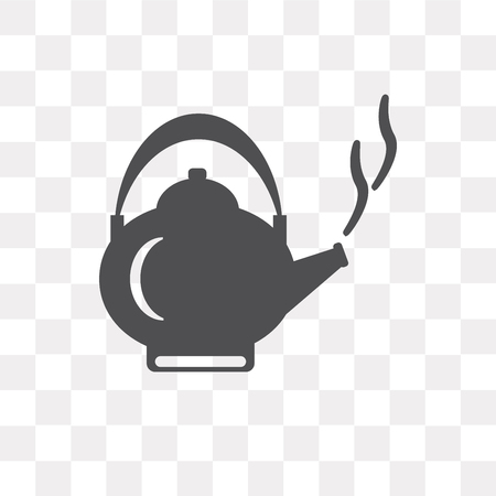Kettle vector icon isolated on transparent background, Kettle logo concept Logo