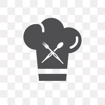 Chef vector icon isolated on transparent background, Chef logo concept