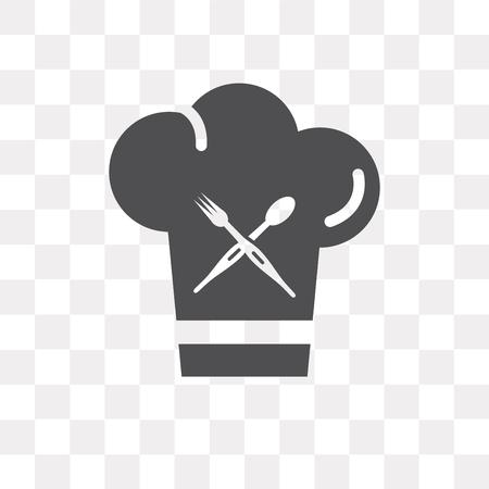 Icône de vecteur de chef isolé sur fond transparent, concept logo Chef
