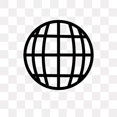 Grid world vector icon isolated on transparent background, Grid world logo concept Ilustração