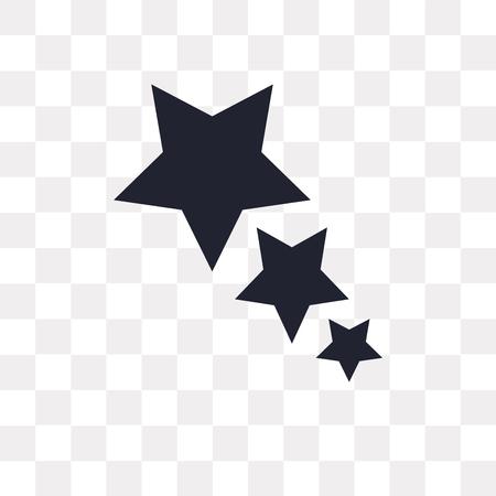 Icône de vecteur étoile isolé sur fond transparent, concept logo Star