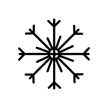 Snowflake icon vector isolated on white background, Snowflake transparent sign , linear symbol and stroke design elements in outline style Vektorové ilustrace