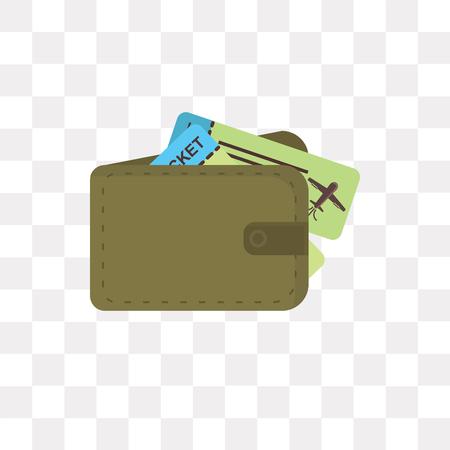 Icono de vector de bolso aislado sobre fondo transparente, concepto de logo de bolso Logos