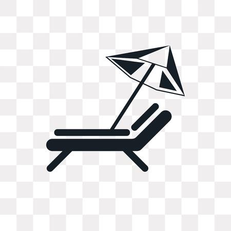 Sun umbrella vector icon isolated on transparent background, Sun umbrella logo concept Logo