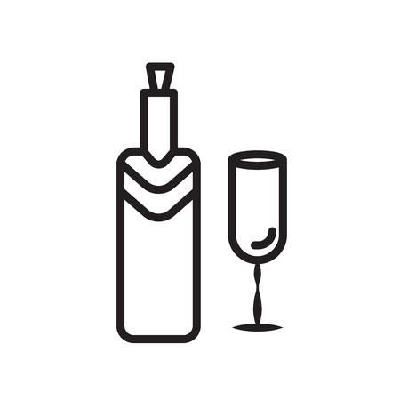Wine icon vector isolated on white background, Wine transparent sign , linear symbol and stroke design elements in outline style