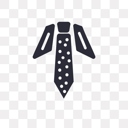 Tie vector icon isolated on transparent background, Tie logo concept Vectores