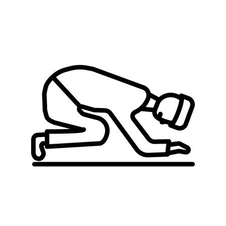 Muslim Praying icon vector isolated on white background, Muslim Praying transparent sign Illustration