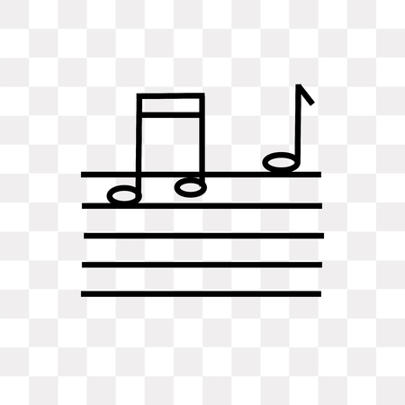 Song note vector icon isolated on transparent background, Song note logo concept