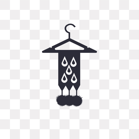 Scarf vector icon isolated on transparent background, Scarf logo concept  イラスト・ベクター素材