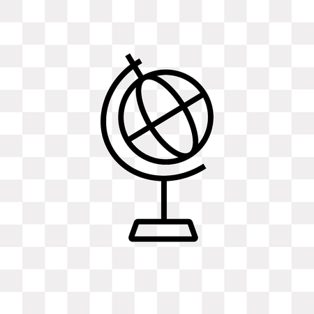 Classroom globe vector icon isolated on transparent background, Classroom globe logo concept