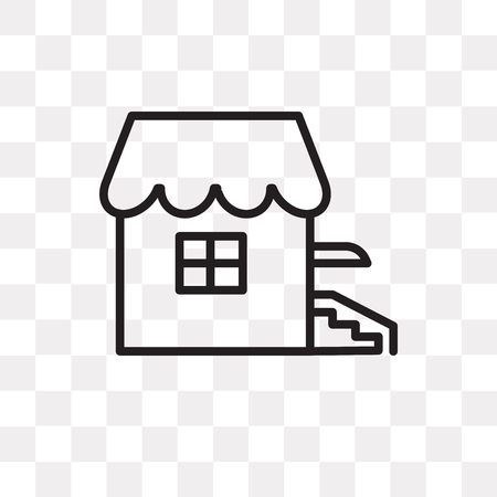 House vector icon isolated on transparent background, House logo concept Vectores