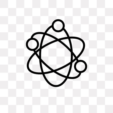 Icône de vecteur de structure atomique isolé sur fond transparent, concept logo Structure atomique Logo