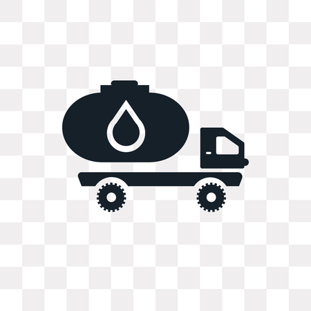 Truck vector icon isolated on transparent background, Truck logo concept Иллюстрация
