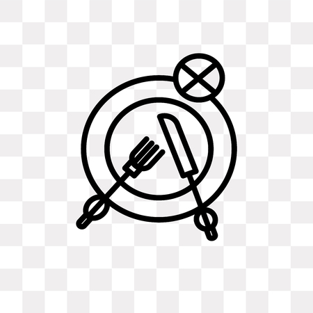 Fasting vector icon isolated on transparent background, Fasting logo concept