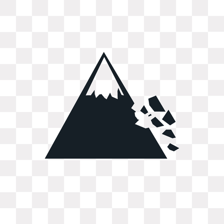 Mountain Colapse vector icon isolated on transparent background, Mountain Colapse logo concept