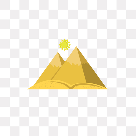 Pyramid vector icon isolated on transparent background, Pyramid logo concept Illustration
