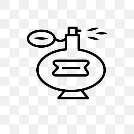Perfume vector icon isolated on transparent background, Perfume logo concept Logo