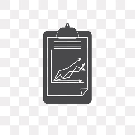 Clipboard vector icon isolated on transparent background, Clipboard logo concept Illustration