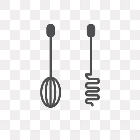Mixer vector icon isolated on transparent background, Mixer logo concept