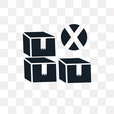 Box vector icon isolated on transparent background, Box logo concept