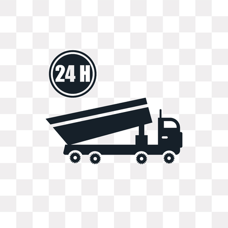 Truck vector icon isolated on transparent background, Truck logo concept Illustration