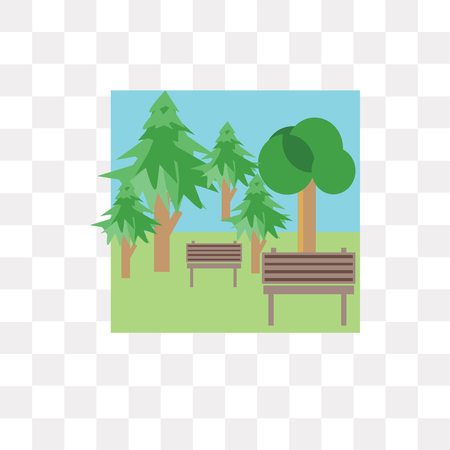 Park vector icon isolated on transparent background, Park logo concept Illustration