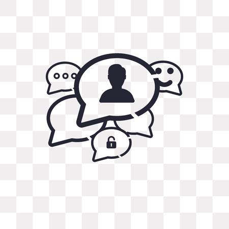 Speech bubble vector icon isolated on transparent background, Speech bubble logo concept Logo