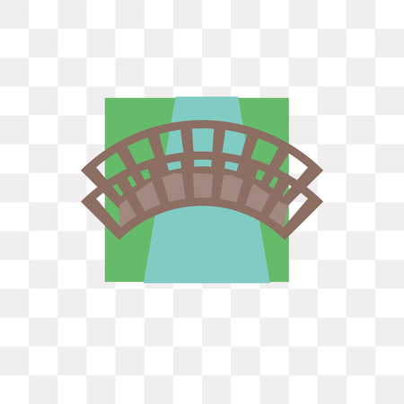 Bridge vector icon isolated on transparent background, Bridge logo concept