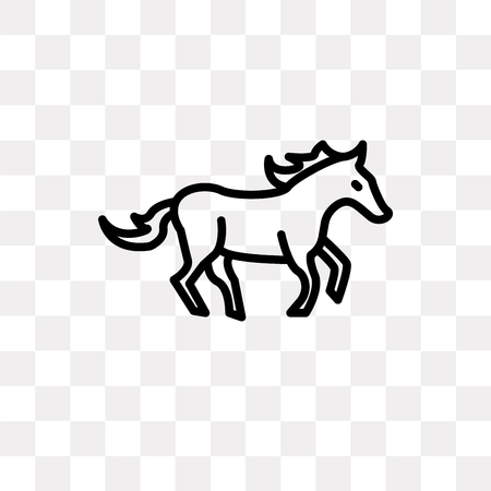 Arab Horse vector icon isolated on transparent background, Arab Horse logo concept