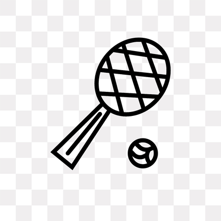 Tennis Game vector icon isolated on transparent background, Tennis Game logo concept