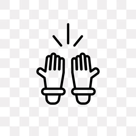 Islamic Prayer vector icon isolated on transparent background, Islamic Prayer logo concept Illustration