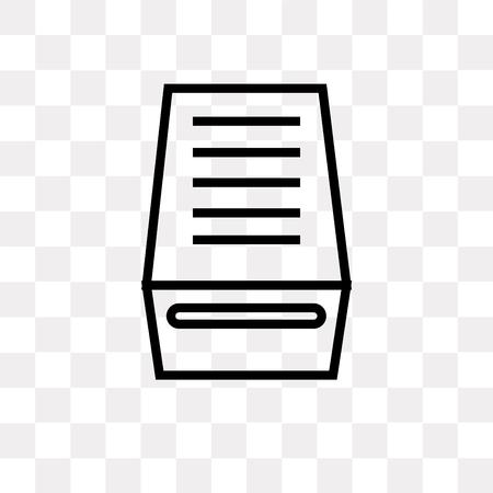 Datei-Posteingang-Vektor-Symbol isoliert auf transparentem Hintergrund, Datei-Posteingang-Logo-Konzept Logo