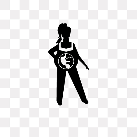 Fetus vector icon isolated on transparent background, Fetus logo concept
