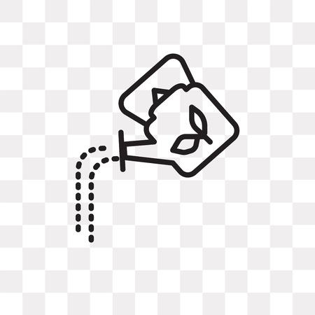 Icono de vector de regadera aislado sobre fondo transparente, concepto de logo de regadera