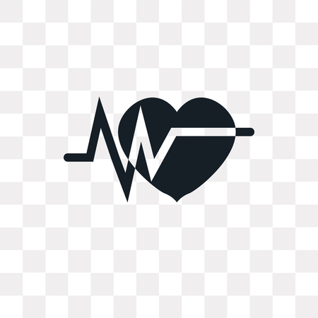 Electrocardiogram vector icon isolated on transparent background, Electrocardiogram logo concept Vettoriali