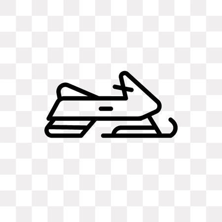 Icône de vecteur de motoneige isolé sur fond transparent, concept logo motoneige Logo