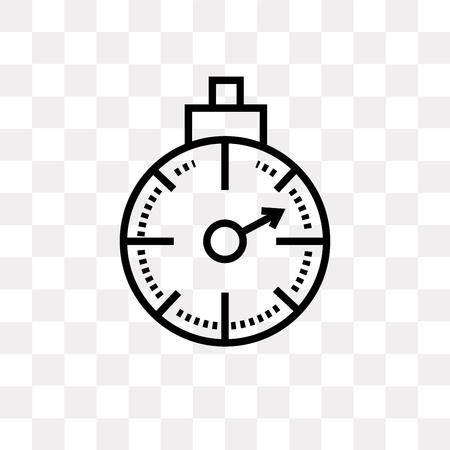 Stopwatch vector icon isolated on transparent background, Stopwatch logo concept Illustration