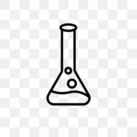 Chemisches Reagenzglas-Vektorikone lokalisiert auf transparentem Hintergrund, chemisches Reagenzglas-Logo-Konzept