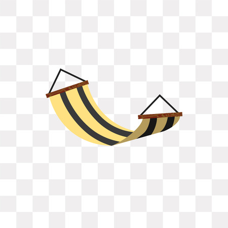 Hammock vector icon isolated on transparent background, Hammock logo concept Illustration