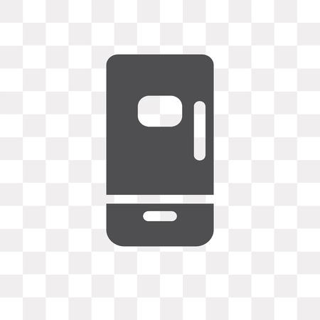 Fridge vector icon isolated on transparent background, Fridge logo concept