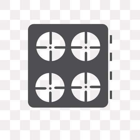 Icono de vector de estufa aislado sobre fondo transparente, concepto de logo de estufa Logos