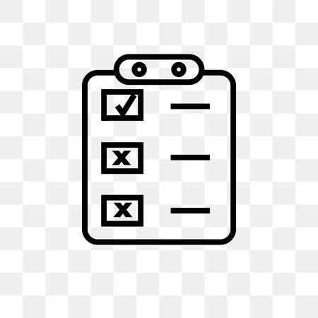 Crea icona di vettore del pulsante elenco isolato su sfondo trasparente, Crea concetto di logo del pulsante elenco
