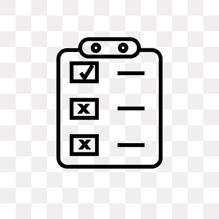Crear icono de vector de botón de lista aislado sobre fondo transparente, concepto de logotipo de botón de lista de creación